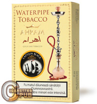 Ahram Captain Black Hookah Tobacco (10 Packs x 50 Grams) 1 Cartons